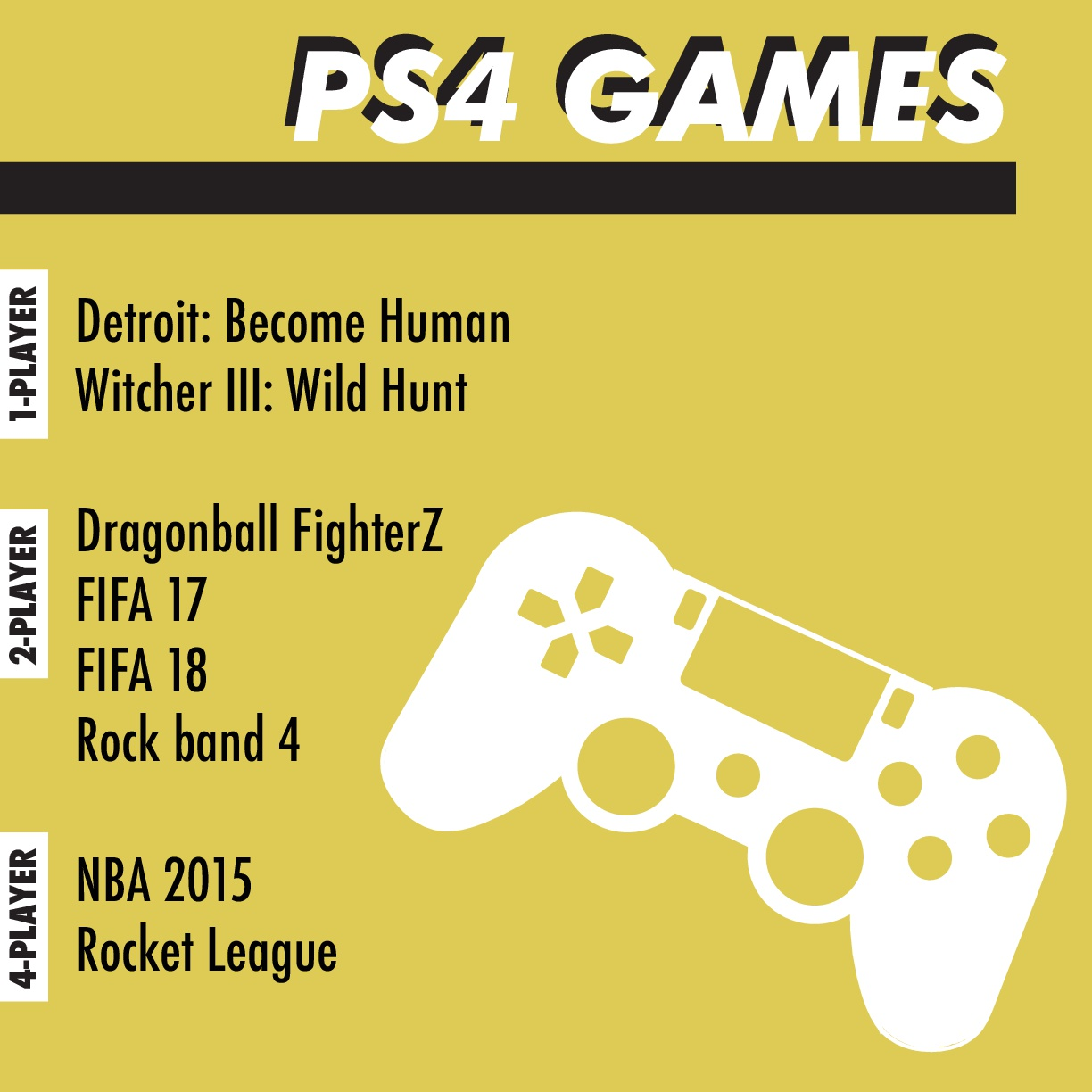 ASLC Student Life Gaming - PS4 Games