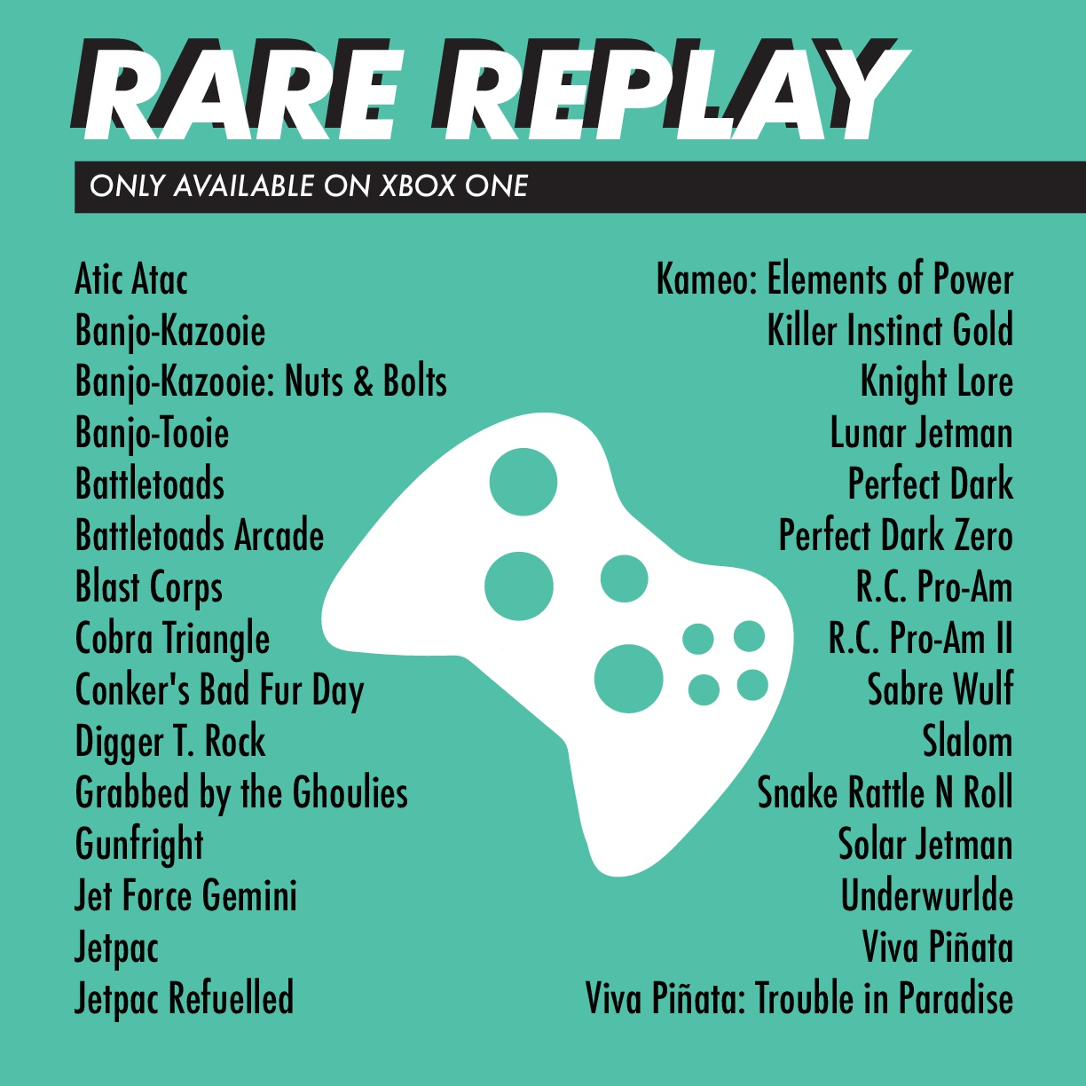 ASLC Student Life Gaming - Rare Replay Xbox One Games