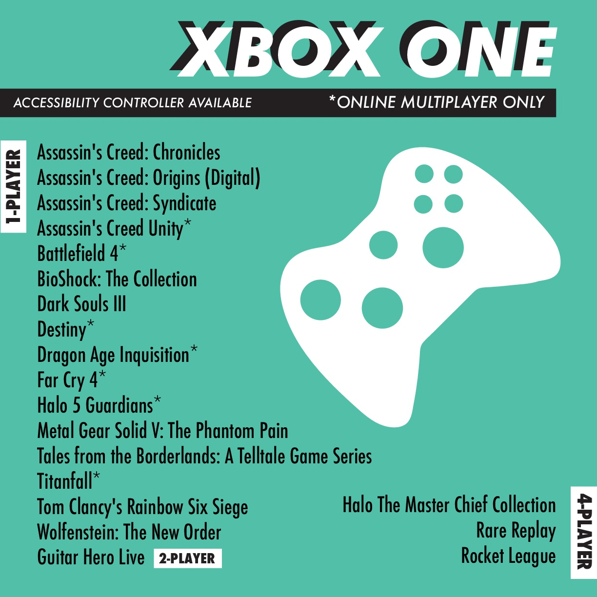 ASLC Student Life Gaming - Xbox One Games