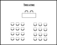 Theatre room configuration diagram
