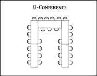 U-conference room configuration diagram