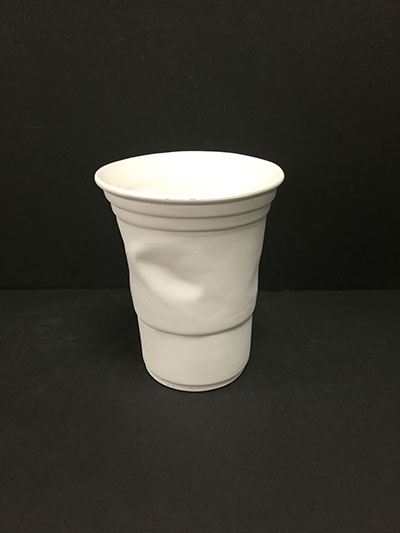 Large Crinkled Plastic Cup