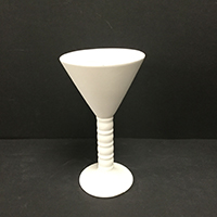 Ribbed Martini Glass