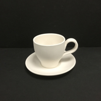 Tappered Tea Cup with Saucer