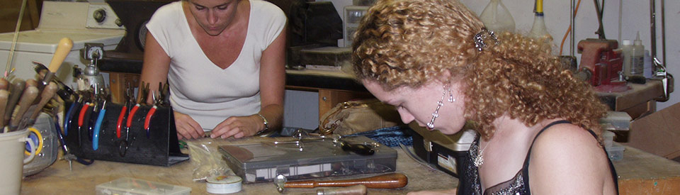 Photo of participating in jewelry making class