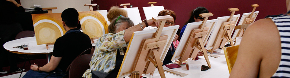 Photo of constituents at a Painting Express Party
