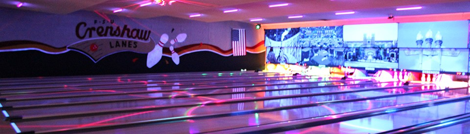 Photo of cosmic bowling lights