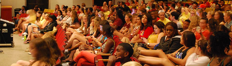 Photo of students in Moore Auditorium