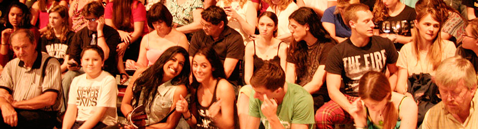 Photo of students at an event
