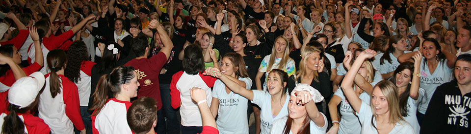 Photo of students participating in Dance Marathon