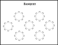Banquet room configuration diagram