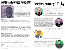 Your Guide to Get Out, by Alexandra Fouquet, and Programmer's Picks